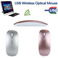 Slim 2.4 GHz Optical Wireless Mouse Mice With USB Receiver For Laptop PC Macbook