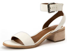 New in Box Frye Womens CINDY 2 PIECE White Leather 2 Strap Sandals 3479162-WHT