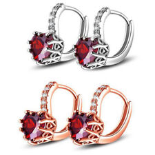 STYLISH WOMEN LOVE HEART ZIRCONIA INLAID EAR STUD EARRINGS BANQUET PARTY JEWELRY
