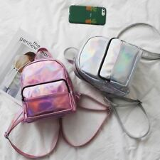 Women Pink Silver Color New Embroidery Pattern Multi Functional Backpack