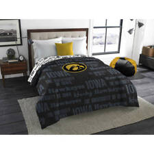 NCAA University Iowa Hawkeyes Comforter Twin/Full Sports Patterned Bedding Team