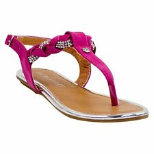 NEW! Laura Ashley 'Tilly' Girls Braided Thong Sandals - Brown, Pink, or White
