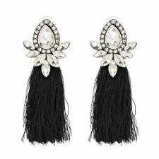 Women New Fashion Collection Candy Color Tassel Decorated Earrings B637