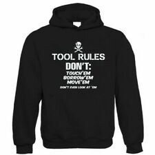 Tool Rules, Funny Car Mechanic Hoodie, Gift for Dad Him