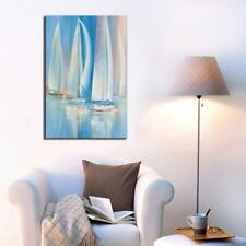Unframed Sail Boat Oil Painting Seascape Abstract Canvas Art Print Modern Dec...