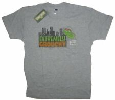 Sesame Street Oscar The Grouch Extremely Grouchy Gray Adult T-Shirt - (Small)
