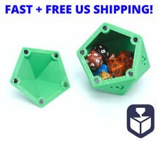 DND Magic RPG d20 Shaped Dice Container Case with Magnetic Door