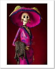 Day Of The Dead. Traditional Mexican Catrina Art Print Home Decor Wall Art - 2