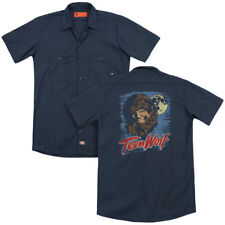 Teen Wolf Movie Painted MOON WOLF Adult Dickies Work Shirt All Sizes