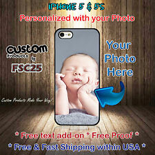 Custom Phone case personalized with your photo selfie art for iPhone 5 & 5s gift