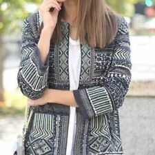 ZARA embroidered embellished blazer jacket with beads sold out bloggers new S M