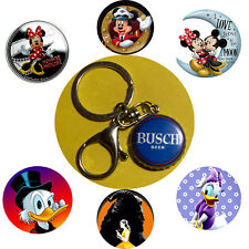 Coors Light Beer bottle cap Mickey Minnie I love U Keychain Pendant necklace