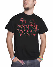 Cannibal Corpse T Shirt Acid Blood Skeleton Band Logo Official Mens New Black