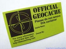 Geocaching Info Cards for Geocaches and Geocoin (Lot, Choice of Design)