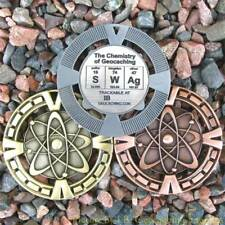 "SWAg - Chemistry of Geocaching Geomedal Geocoin (2.5"" + Cutouts, Antique Finish)"