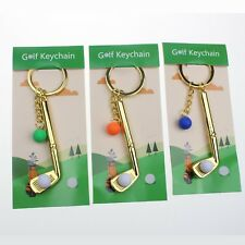 Crestgolf 3pieces golf club & ball model Stainless steel key chain key ring