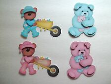 3D-U Pick-BE5 Sleeping Bear Pillow Journal CardStar Scrapbook Card Embellishment
