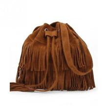 Women Black Khaki And Brown Color Tassel Decorated Casual Style Shoulder Bag