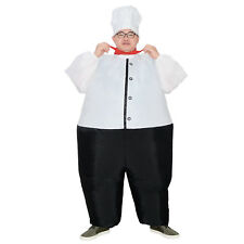 Chef Costume Adult Master Cook Inflatable Blow Up Suits Party Cosplay Outfit Men