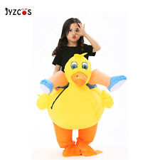 Yellow Duck Women Inflatable Blow Up Costume Kid Animal Party Gift Cosplay Dress