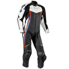 BMW RR Motorcycle Leather Suit Motorbike Racing Leather Biker 1PC Suit Armors