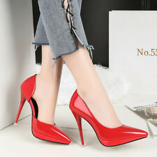 Side Hollow Patent Leather High Heels Stilettos Women Pumps Occupation OL Shoes