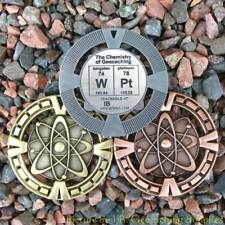 "WPt - Chemistry of Geocaching Geomedal Geocoin (2.5"", Cutouts, Antique Finish)"