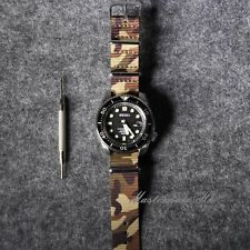 Army Military Watch Nato Strap Camouflage ZULU Nylon G10 For 18/20/22mm Watches