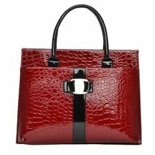 New Fashion Pu Leather Red Black Color Shoulder Top-handle Bag for Women