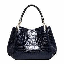 Women Leather Fashion Shoulder Crocodile Pattern Handbag | UK |