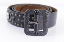 Diesel Belt Leather Leather with Rivets Cintura Belt cowleder from Italy 100 cm