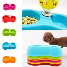 Dual-use Pet Dog Cat Automatic Water Dispenser Food Dish Bowl Bottle Feeder