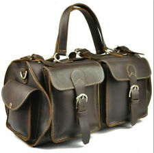 Men's Handmade Vintage Genuine Leather Satchel Handbag Shoulder Messenger bag
