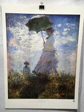 Woman with a Parasol Madame Monet and her Son Claude Monet Poster 29 x 22