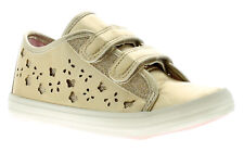 New Younger Girls/Childrens Gold Buckle My Shoe Trent Trainers UK Size