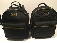 NWT Kate Spade Small Bradley Wilson Road Backpack Nylon or Quilted - BLACK