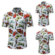 Men's Colorful Butterfly Stylish Shirt Short Sleeve Casual Luxury Versatile Tops