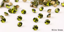 144pcs SS2-SS20 Olive Green Point Back Crystal Glass Rhinestones China A+ Grade