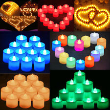 12/24/36Pcs Candles LED Tea Light Flameless Flickering Home Wedding Party