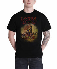 Cannibal Corpse T Shirt Chainsaw band logo new Official Mens Black
