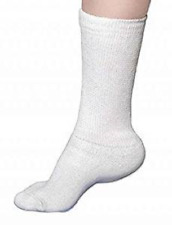 Mens Tru Fit Medi Diabetic Socks Crew White Size 10-13 NWT