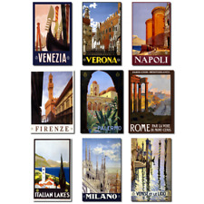 Italy Travel Ads Italian (9 Pack) Vintage Repro Posters Rome Firenze Milano