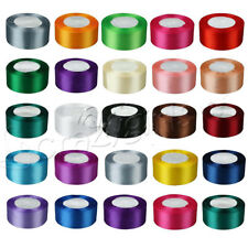 """1 Roll 25 Yards Satin Ribbon Craft 1.5"""" 38mm Wide Bow Wedding Party Supply C62S"""