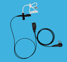 Retail Store Taxi Construction Clear Tube Radio Earpiece PTT for Relm RCA Tekk