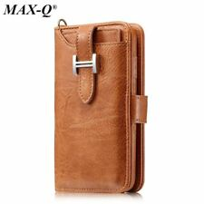 Retro Handmade Genuine pu Leather Wallet Case for iphone 7 8 Luxury Purse Pouch