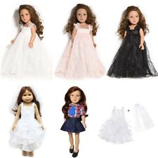 """Handmade Doll Lace Dress White Wedding Clothes Party Outfit 18"""" American Girl"""