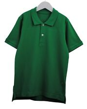 Boys Ex Chainstore Polo T-Shirt Top Soft Cotton Green Age 9 to 12 Years Kids