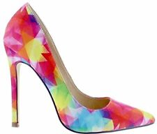 Liliana Angie-8 Pointed Pointy Toe Stiletto High Heel Slip On Pumps Multi-Color