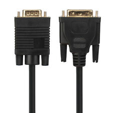 Gold Plat DVI to VGA 24+5 DVI-I Dual Link to VGA Male to Male Video Cable 10ft