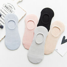 5/10Pair Women Invisible Nonslip Loafer Boat No Show Liner Low Cut Cotton Socks